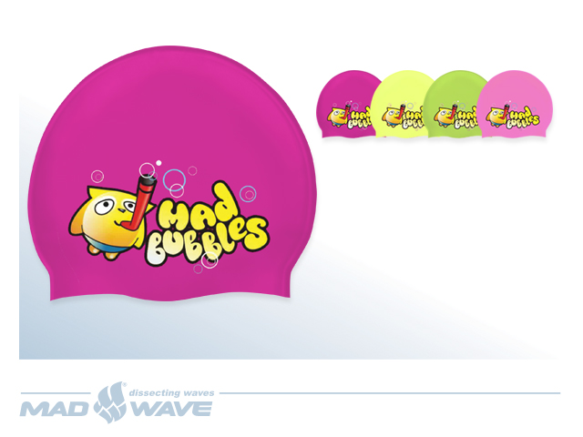 Шапочка Mad Bubble Junior Printed Silicone